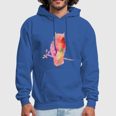 Colourful Owl - Men's Hoodie