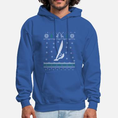 Windsurf Windsurfing Ugly Christmas Sweater Gift - Men's Hoodie
