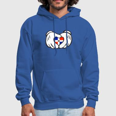 Dominican Republic dominican heart hand - Men's Hoodie