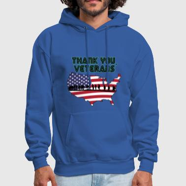 Memorial Day Tee - thank you veterans - Men's Hoodie