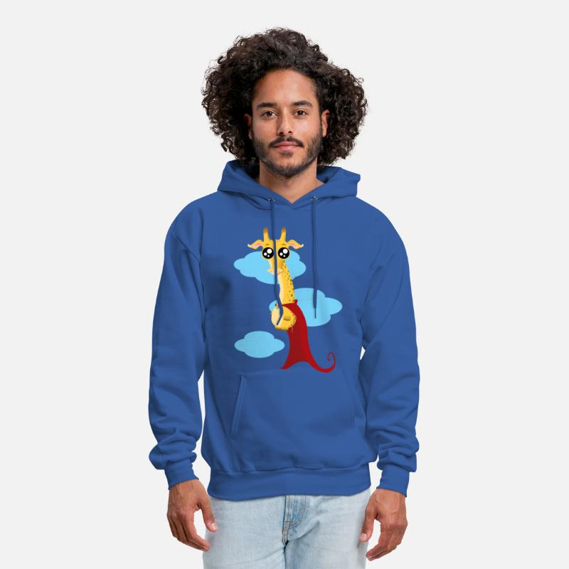 Superheroes Hoodies & Sweatshirts - giraffe superhero - Men's Hoodie royal blue