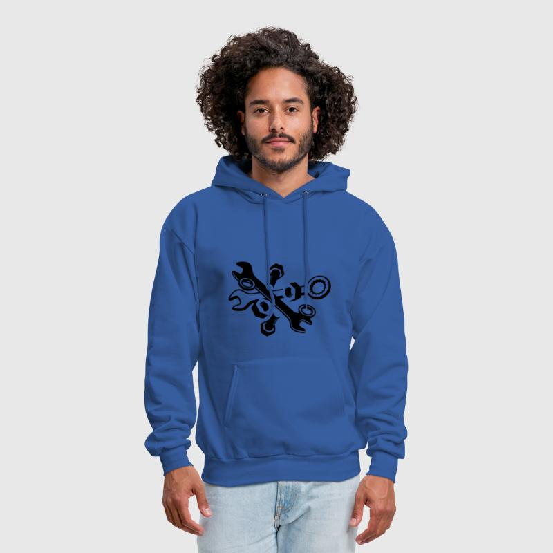Screws, nuts and wrench  - Men's Hoodie