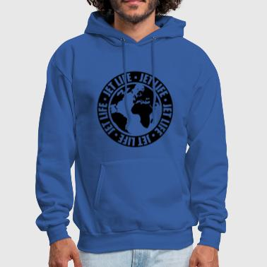 Jet Life world travel circle pilot earth travel jetset stam - Men's Hoodie