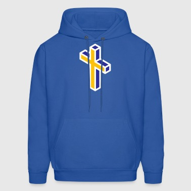 Maize and Blue Cross - Men's Hoodie