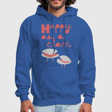 happy as a clam - Men's Hoodie