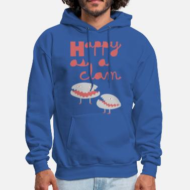 Clam  happy as a clam - Men's Hoodie