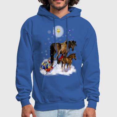 Colt Christmas Mare and Colt - Men's Hoodie