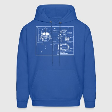 darth vader star wars blueprint - Men's Hoodie