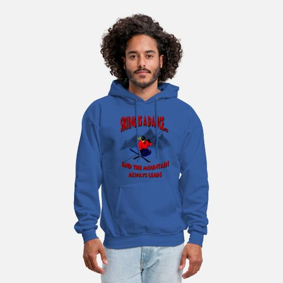 Sports Hoodies & Sweatshirts - Skiing Is A Dance - Men's Hoodie royal blue