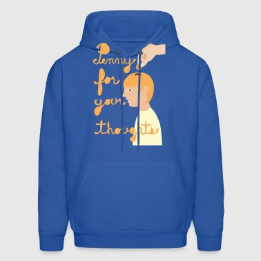 penny for your thoughts - Men's Hoodie