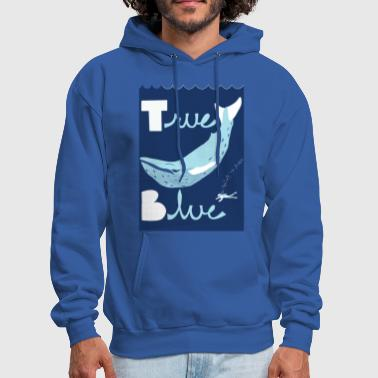 true blue - Men's Hoodie
