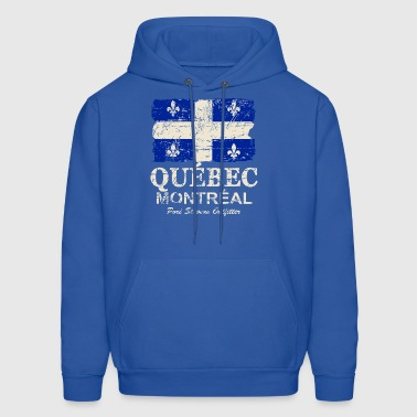 Quebec Flag - Vintage Look - Men's Hoodie