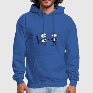 The robot gives away his heart - Men's Hoodie