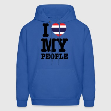 I Heart (Love) My Thai People - Men's Hoodie
