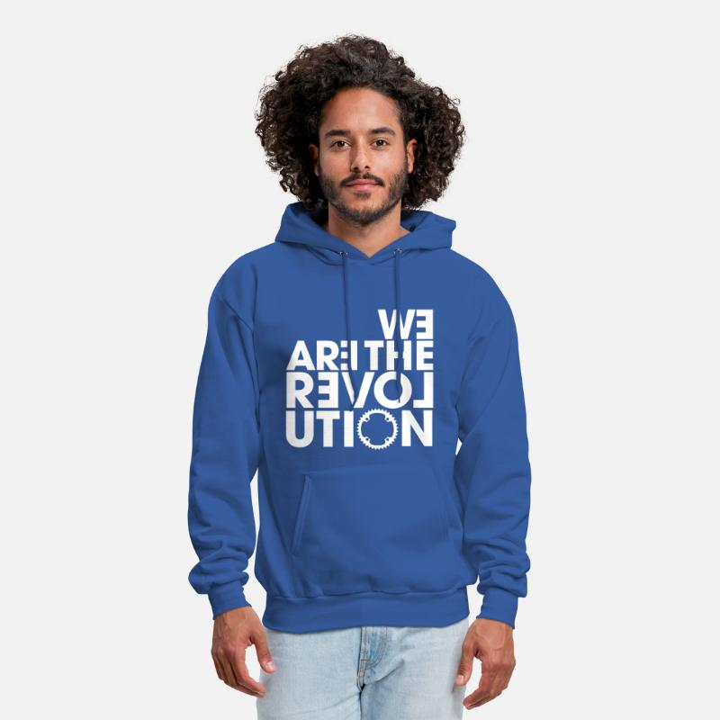 Dirt Hoodies & Sweatshirts - Bicycle Revolution - Men's Hoodie royal blue
