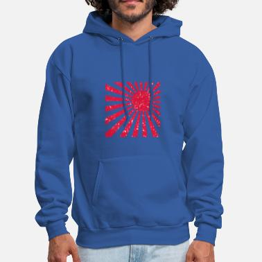 Rising Sun Scuffed Japan flag Rising Sun - gift idea - Men's Hoodie