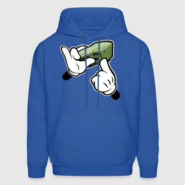 Fat Stack of Cash Cartoon Hands - Men's Hoodie