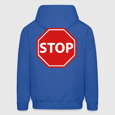 Stop sign with background - Men's Hoodie