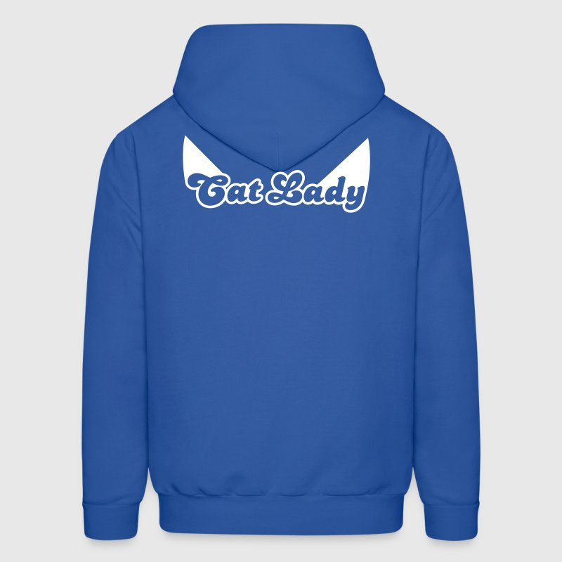 CAT LADY with cute little catty ears - Men's Hoodie