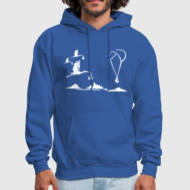 Paragliding with Storks - Men's Hoodie