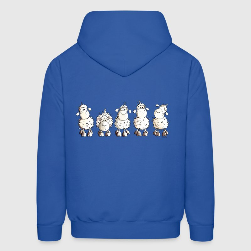 Funny White Sheep - Men's Hoodie