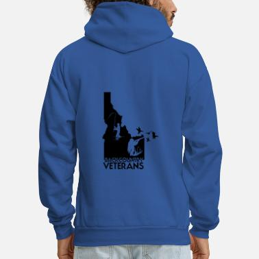 Idaho idaho hunting and fishing vets - Men's Hoodie