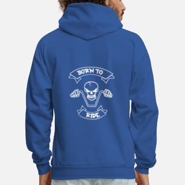 Cru Motocross Motorcycle Motor Biker Race Cru Turbo - Men's Hoodie