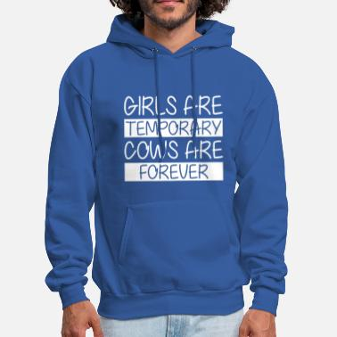 Cow Girl Girls Are Temporary Cows Are Forever - Men's Hoodie