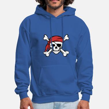 Pirate Flag Jolly Roger Pirate Shirt Distressed Pirates Tee - Men's Hoodie