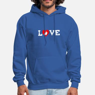 I Love my Rabbit I Heart my Bunny Easter - Men's Hoodie