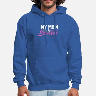 Mastectomy My Mom is A Survivor Breast Cancer Awareness Gift - Men's Hoodie