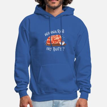 Cooking BBQ: Wanna Rub My Butt - Men's Hoodie