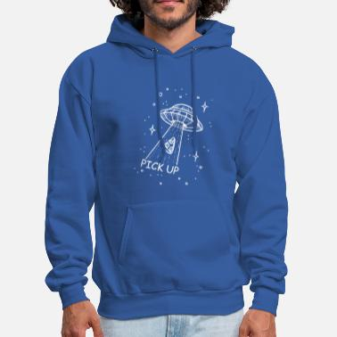 Pick Up pick up Pizza Ufo - Men's Hoodie