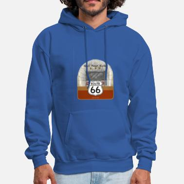 Airstream Route 66 png - Men's Hoodie
