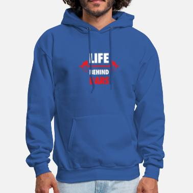 Fitness Life Behind Bars Fitness Quote - Men's Hoodie