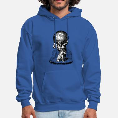 Atlas Atlas lifts the World Greek Mythology - Men's Hoodie