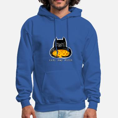 Cats and Pizza - Men's Hoodie