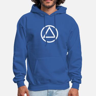 Alcoholic The Circle and Triangle of Recovery - Men's Hoodie
