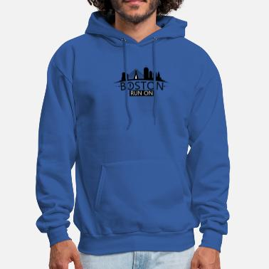 Boston Marathon Boston Run On - Men's Hoodie