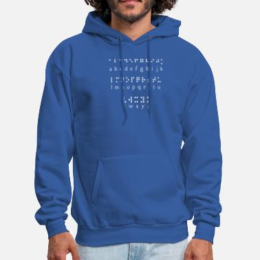 Braille braille alphabet - Men's Hoodie