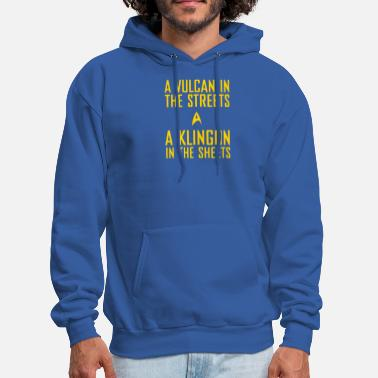 Klingon A vulcan in the streets a klingon in the sheets - Men's Hoodie