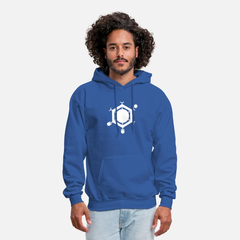 Whiz Hoodies & Sweatshirts - Social Media Connector Expert - Men's Hoodie royal blue