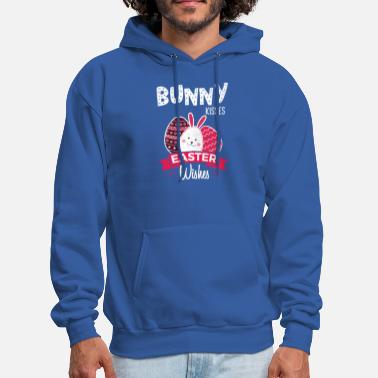 Bunny Kisses Easter Wishes Easter Bunny Gifts - Men's Hoodie