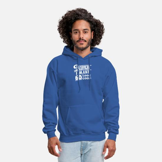 Funny Hoodies & Sweatshirts - 60th Birthday Look Good - Men's Hoodie royal blue
