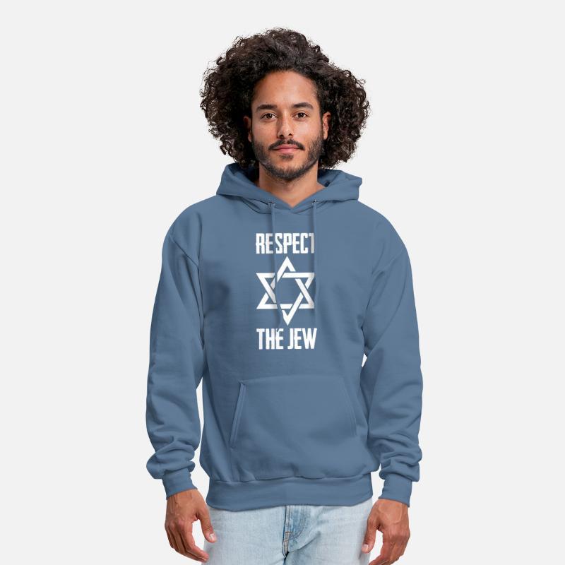 Star Of David Distressed Jewish Hewbrew Pride Hoodie Pullover
