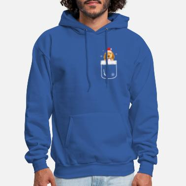 Golden Retriever In Pocket Funny Christmas Dog - Men's Hoodie