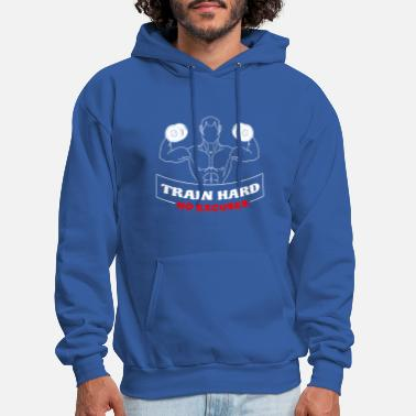 train hard gym workout exercise - Men's Hoodie