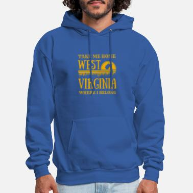 West Virginia West Virginia State Map WV Take Me Home Country - Men's Hoodie