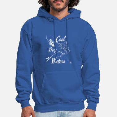 Cool Deep Waters Design - Men's Hoodie