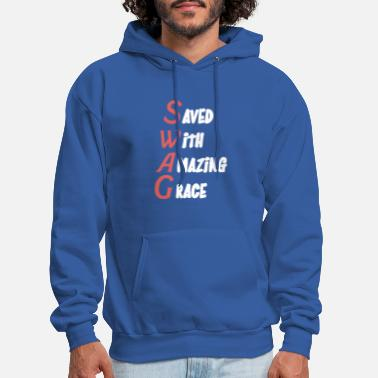 Saved With Amazing Grace - Men's Hoodie